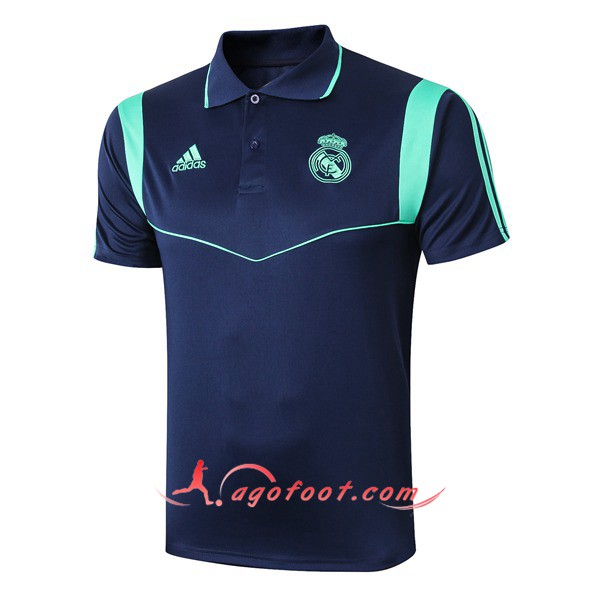 Polo Foot Real Madrid Bleu Fonce 19/20