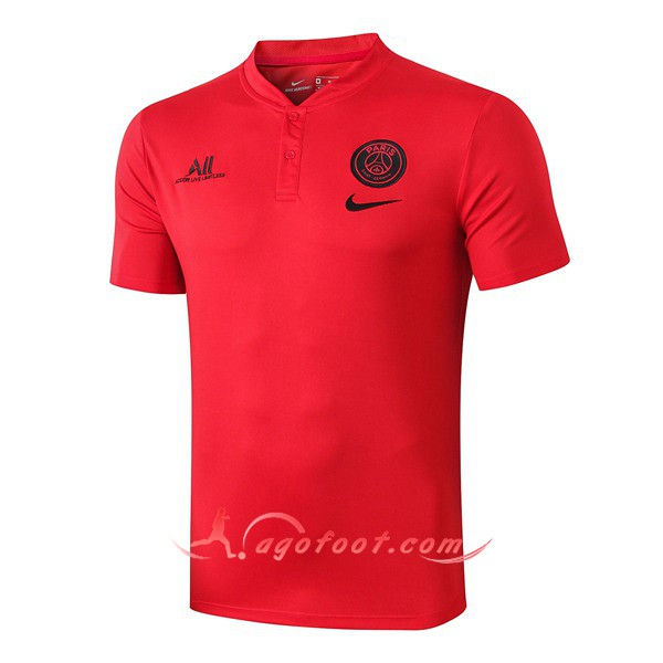 Polo Foot Paris PSG ALL Rouge 19/20