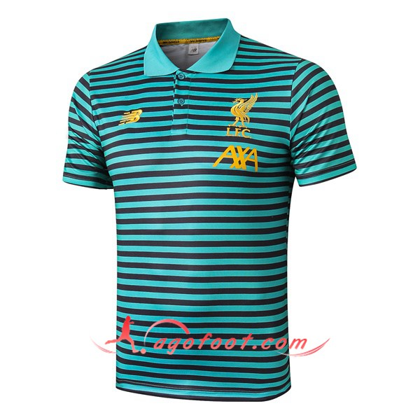 Polo Foot FC Liverpool Vert Stripe 19/20