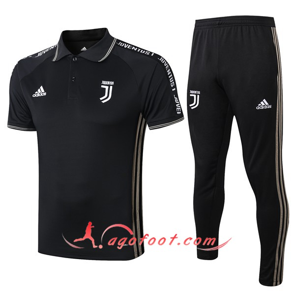 Ensemble Polo Juventus + Pantalon Noir 19/20