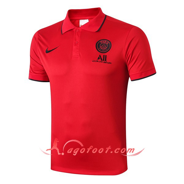 Polo Foot Paris PSG ALL NIKE Rouge 19/20