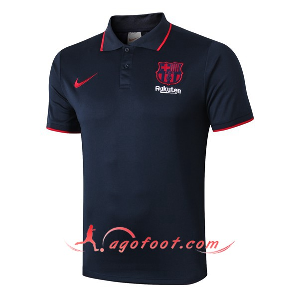 Polo Foot FC Barcelone Bleu Saphir 19/20
