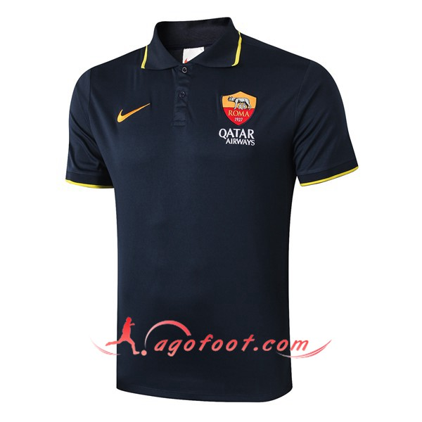 Polo Foot AS Roma Bleu Saphir 19/20