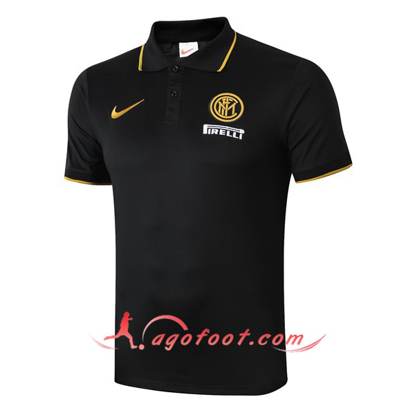 Polo Foot Inter Milan Noir 19/20