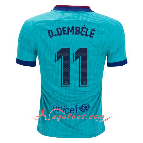 Maillot Foot FC Barcelone (O.DEMBELE 11) Third Floqué 19/20