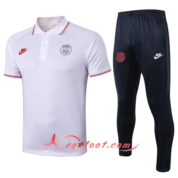 Ensemble Polo Paris PSG + Pantalon Rouge 19/20