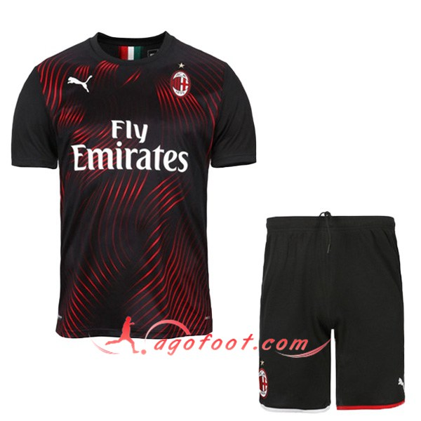 Ensemble Maillot Foot Milan AC Third Floqué 19/20