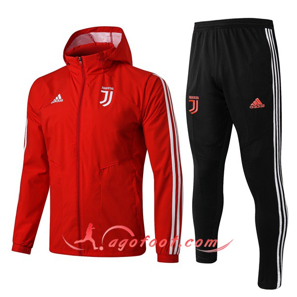 Ensemble Coupe-Vent Survetement Foot Juventus Rouge 19/20