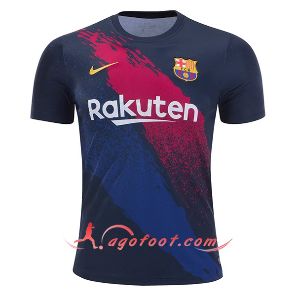 Training T-Shirts FC Barcelone Noir Rouge 19/20