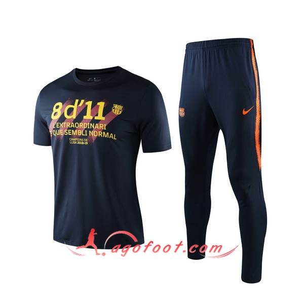 Training T-Shirts FC Barcelone + Pantalon Noir 19/20