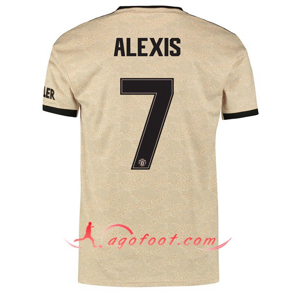 Nouveau Maillot Foot Manchester United (ALEXIS 7) Exterieur