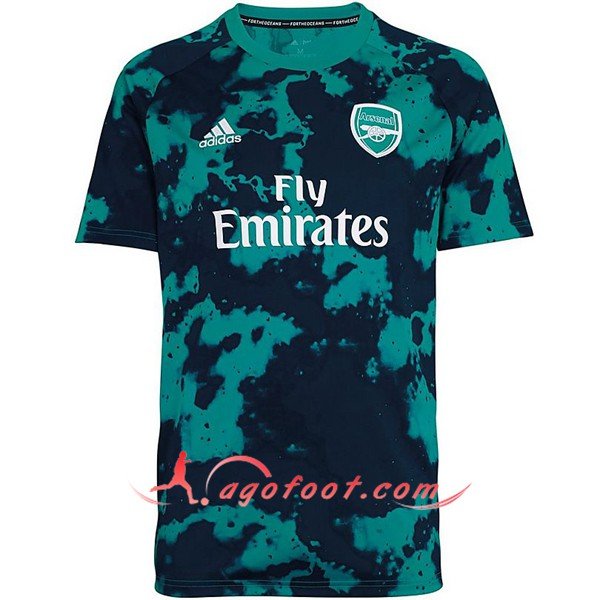 Training T-Shirts Arsenal Noir/Vert 19/20