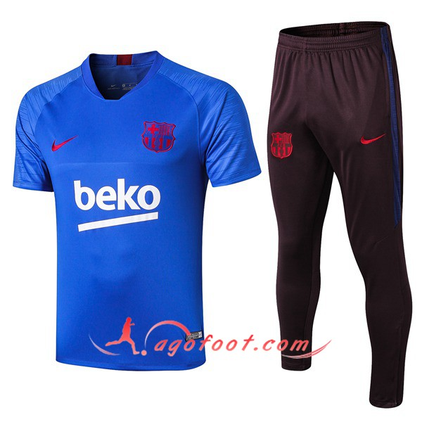 Training T-Shirts FC Barcelone + Pantalon Blue 19/20
