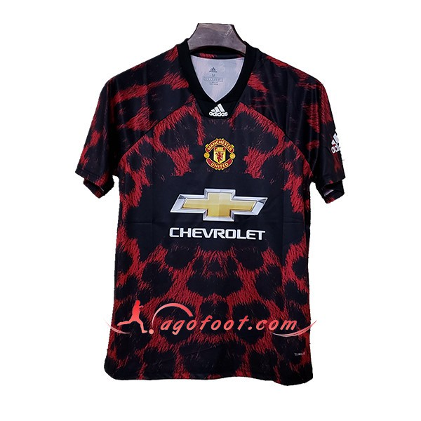Maillot Foot Manchester United Adidas X EA Sports Rouge Noir Floqué 2019 2020