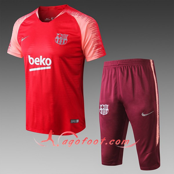 Ensemble PRÉ MATCH Training FC Barcelone + Pantalon 3/4 Rouge 2019/20