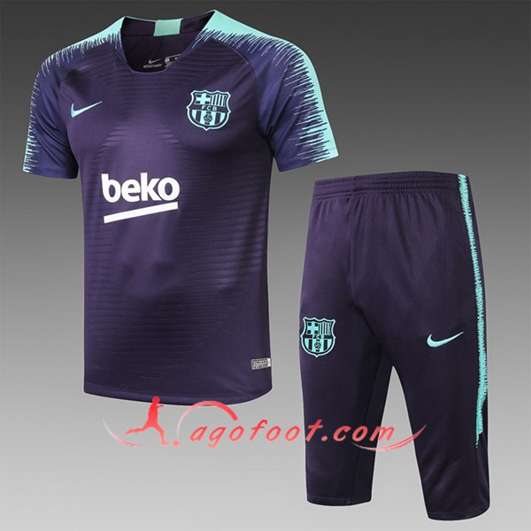 Ensemble PRÉ MATCH Training FC Barcelone + Pantalon 3/4 Bleu Fonce 2019/20