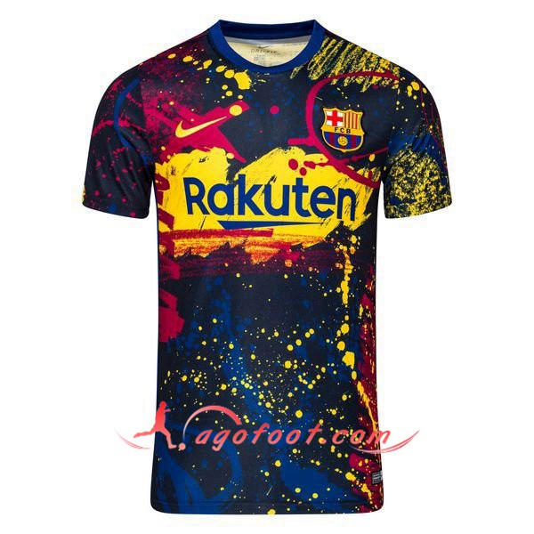 Training T-Shirts FC Barcelone Obsidienne Noir 19/20