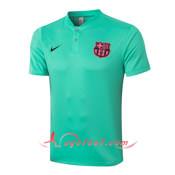 Polo Foot FC Barcelone Vert 20/21