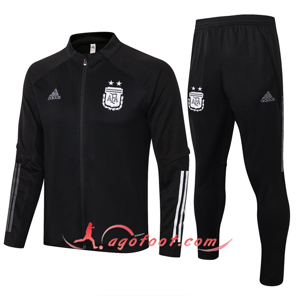 Ensemble Survetement Foot - Veste Argentine Noir 20/21