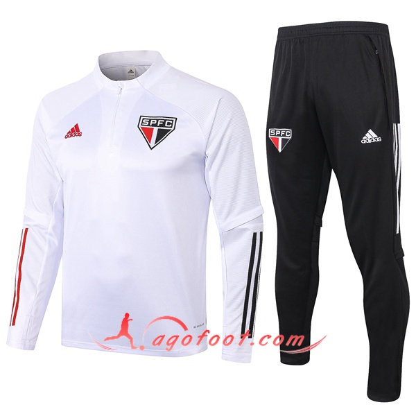Ensemble Survetement Foot Sao Paulo FC Blanc 20/21