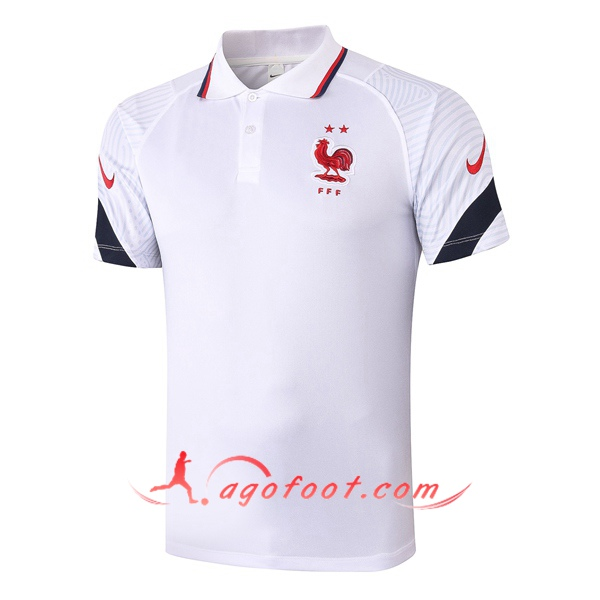Polo Foot France Blanc 20/21