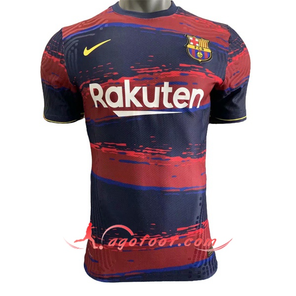 Training T-Shirts FC Barcelone Bleu Rouge 20/21