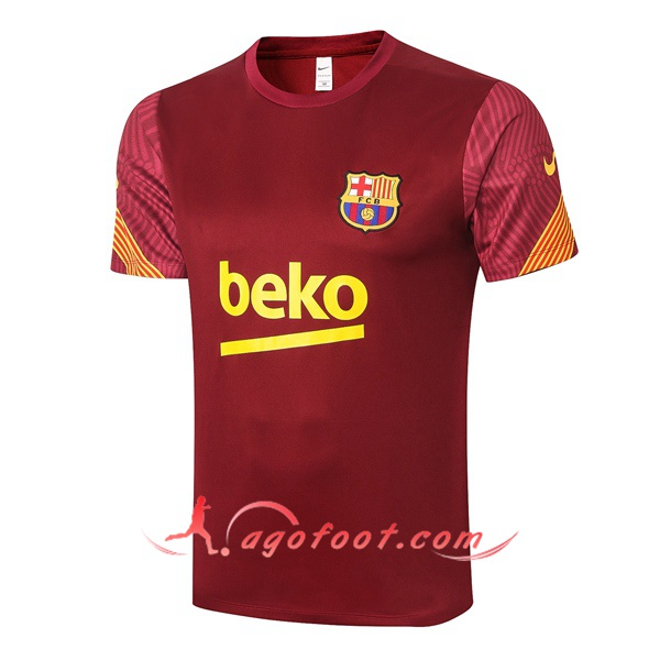 Training T-Shirts FC Barcelone Rouge 20/21