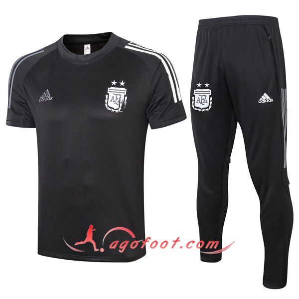 Training T-Shirts Argentine + Pantalon Noir 20/21