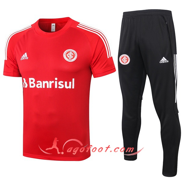 Training T-Shirts SC Internacional + Pantalon Rouge 20/21