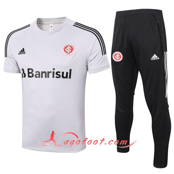 Training T-Shirts SC Internacional + Pantalon Gris Clair 20/21