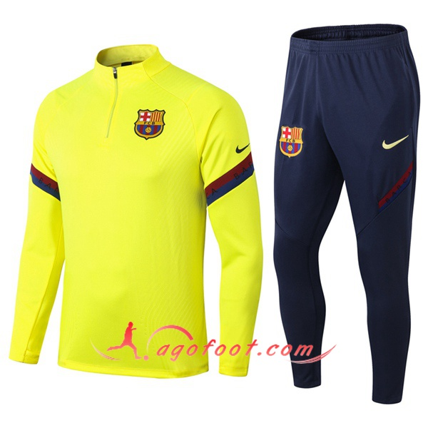 Ensemble Survetement Foot FC Barcelone Jaune 20/21