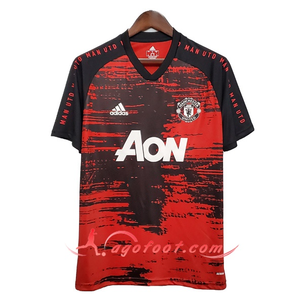 Training T-Shirts Manchester United Noir/Rouge 20/21