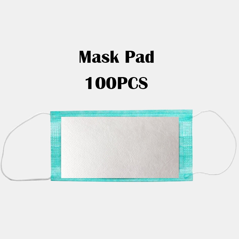 Masque Anti Pollution Jetable Tampon Filtrant Remplacement Tampon 100 Pieces