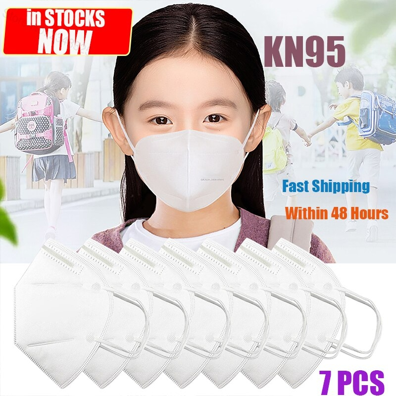 Inrs Masques De Protection Respiratoire Enfant Pharmacie 7pcs 3 Layers